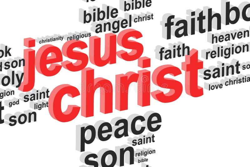 Jesus Christ Word Cloud Concept ilustração do vetor