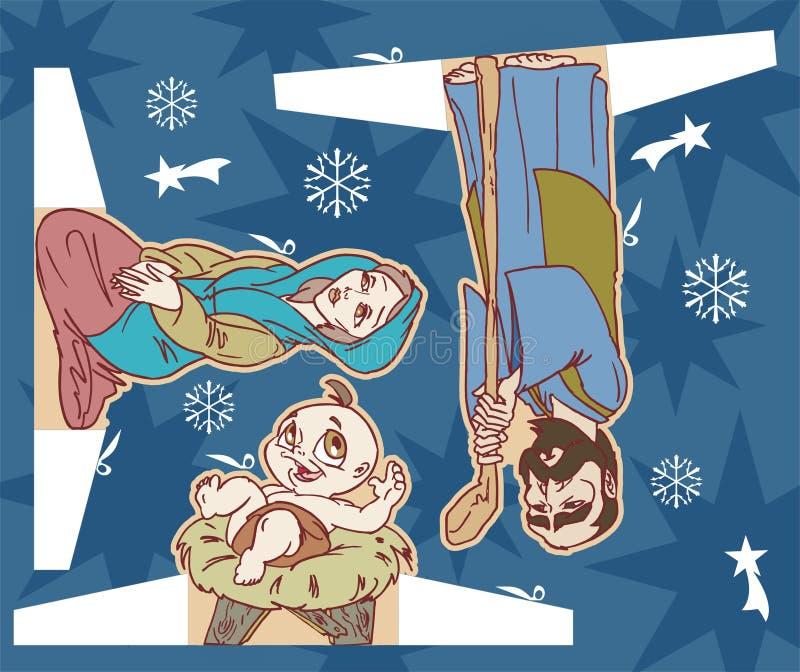 Jesus christmas royalty free illustration