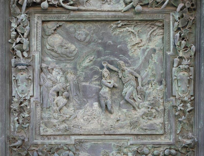 Jesus Christs Baptism imagens de stock royalty free
