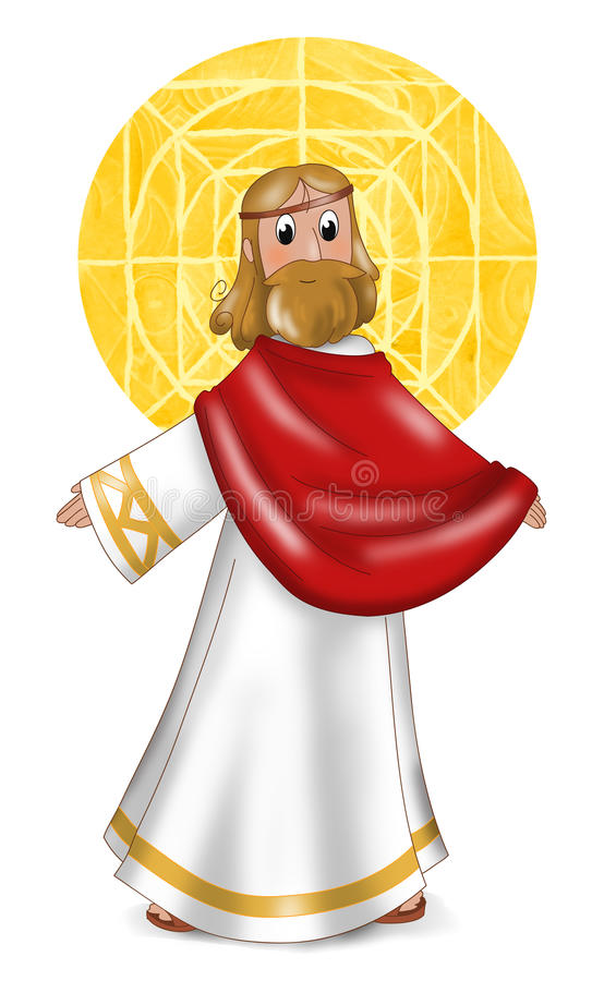 Jesus-Christus vector illustratie
