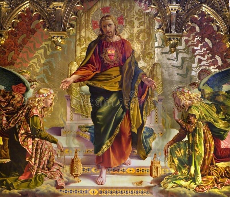 Jesus Christus - Anstrich von der Siena-Kirche lizenzfreie stockbilder