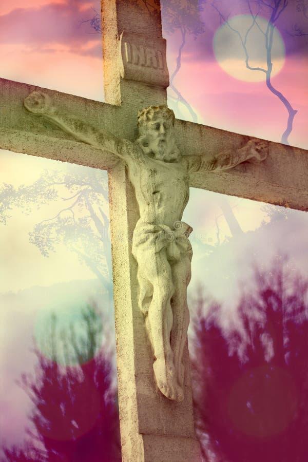 Jesus Christus auf dem Kreuz vektor abbildung