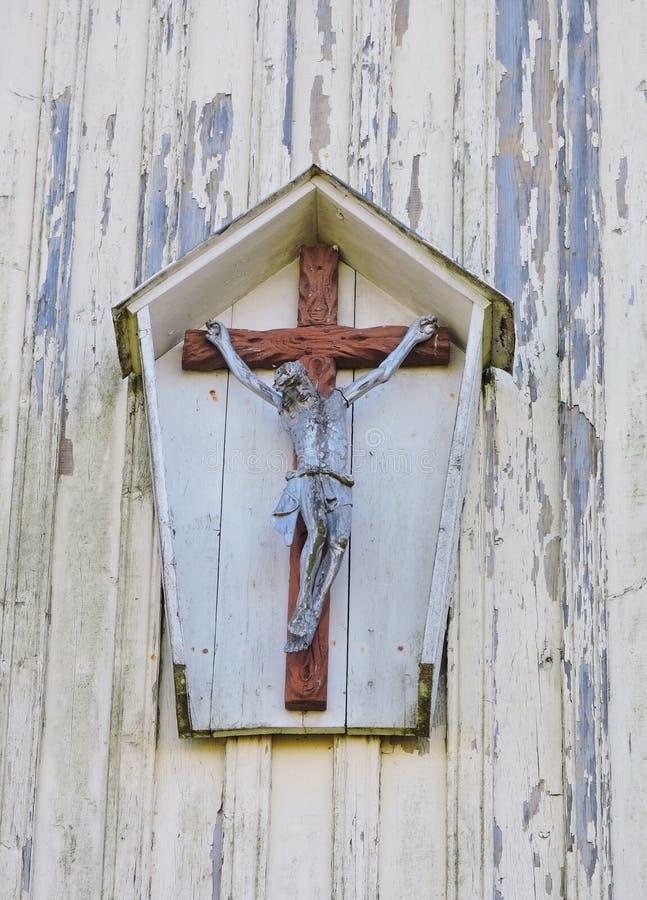 Jesus Christus auf dem Kreuz lizenzfreie stockfotos