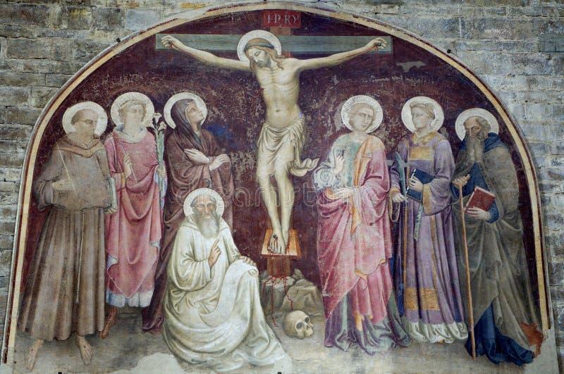 Jesus Christus auf dem Kreuz von Florenz stockfotos