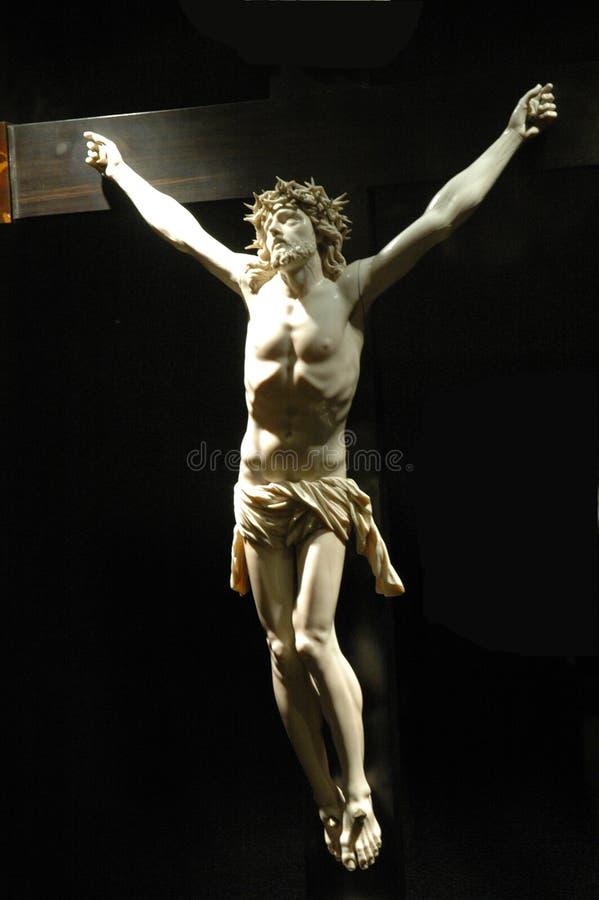 Jesus Christus auf einem Kreuz stockfotografie