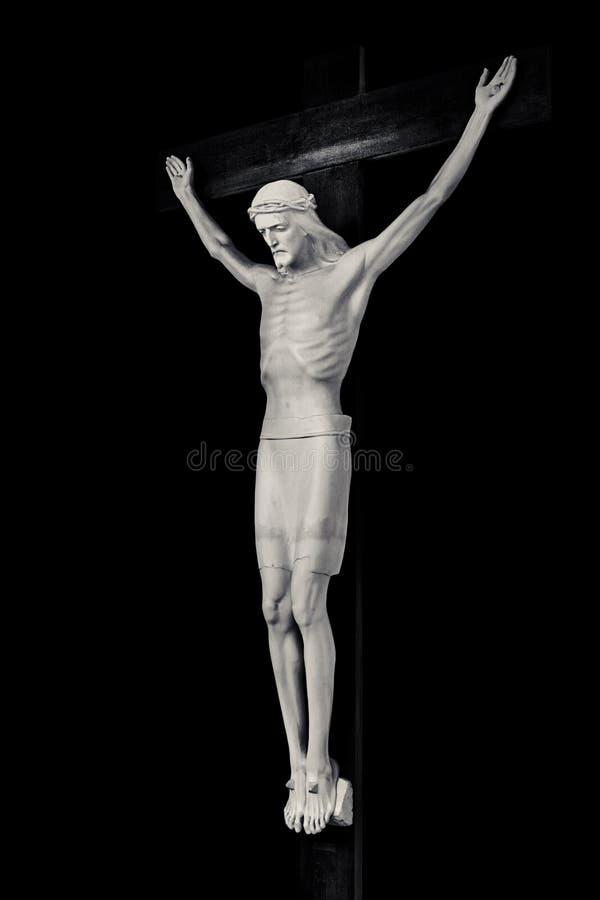 Jesus Christus auf Kruzifix stockfoto
