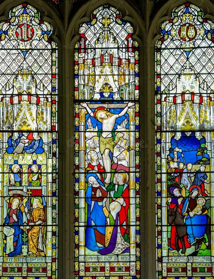 Jesus Christus-Buntglasfenster lizenzfreie stockfotografie