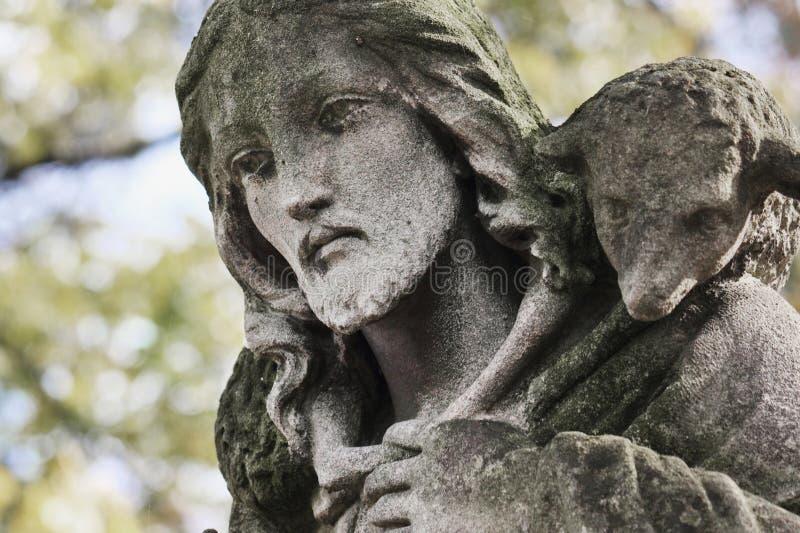 Jesus Christus - der gute Hirte (Kunstzusammensetzung) lizenzfreie stockfotografie