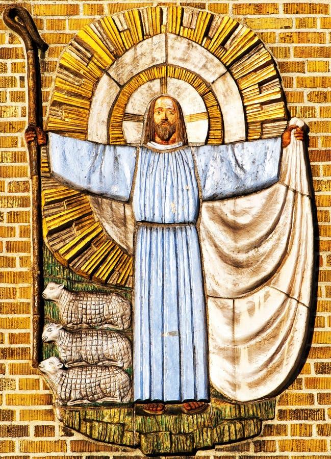 Jesus Christus der Schäfer lizenzfreie stockbilder