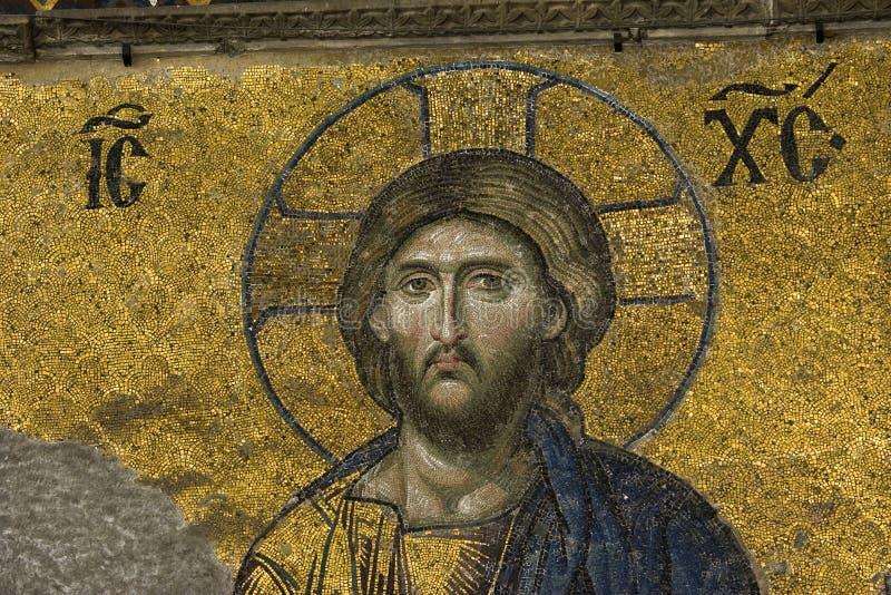 Jesus Christus in Hagia Sophia stockfotografie