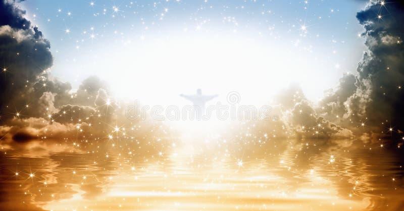 Jesus-Christus in hemel royalty-vrije stock afbeeldingen