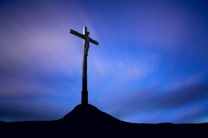 Jesus-Christus op het Kruis royalty-vrije stock afbeeldingen