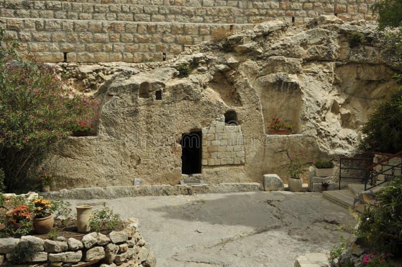 Jesus Christusgrab Israel stockbilder