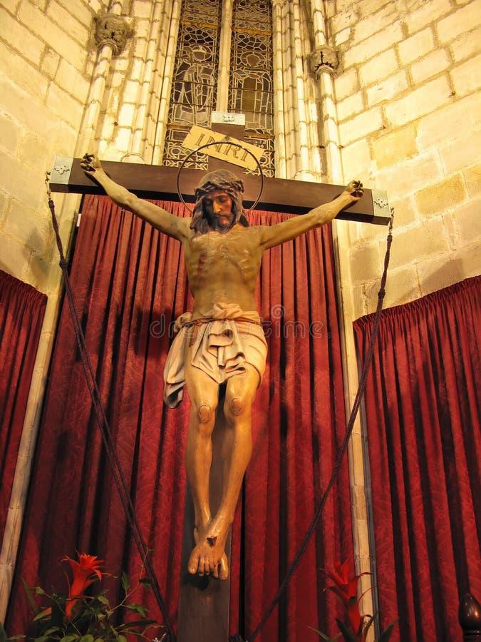 Jesus Christusskulptur stockfotos