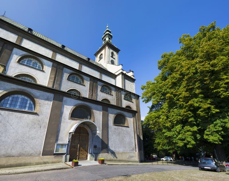 Jesus Church, Cieszyn, Polônia foto de stock