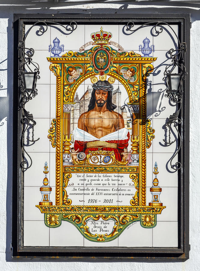 Jesus of cordoba penalties, Christ of the Gypsies. Cordoba - Spain, November 26, 2013: jesus of penalties, Christ of the Gypsies work of Catalina Alcaide stock photography