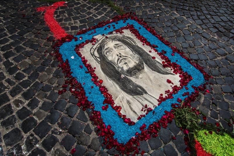 Jesus corpusdomini Palestrina fotografering för bildbyråer