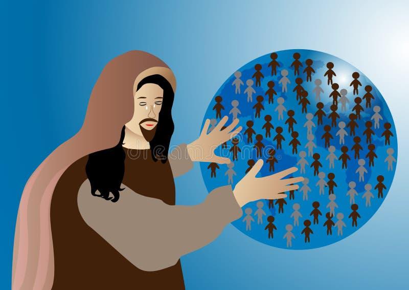 Jesus Cried royalty illustrazione gratis