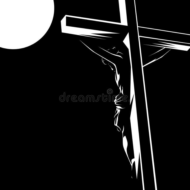 Jesus Crist svartvit konturvektor /eps royaltyfri illustrationer