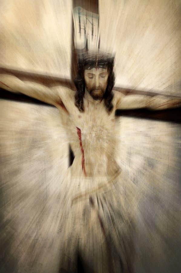 Jesus Cristo Crucified ilustração stock