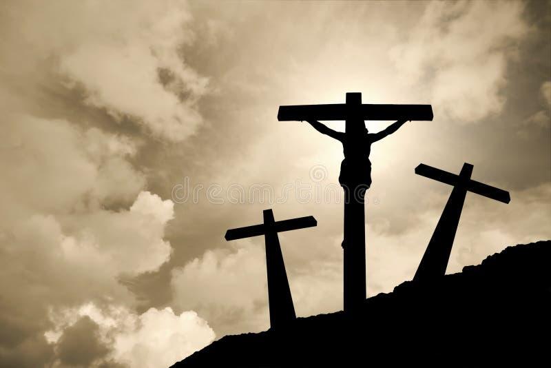 Jesus Cristo cruxified ilustração do vetor