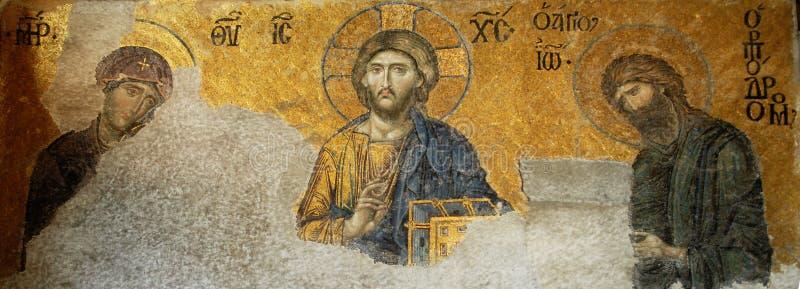 Jesus Cristo em Hagia Sophia fotografia de stock royalty free