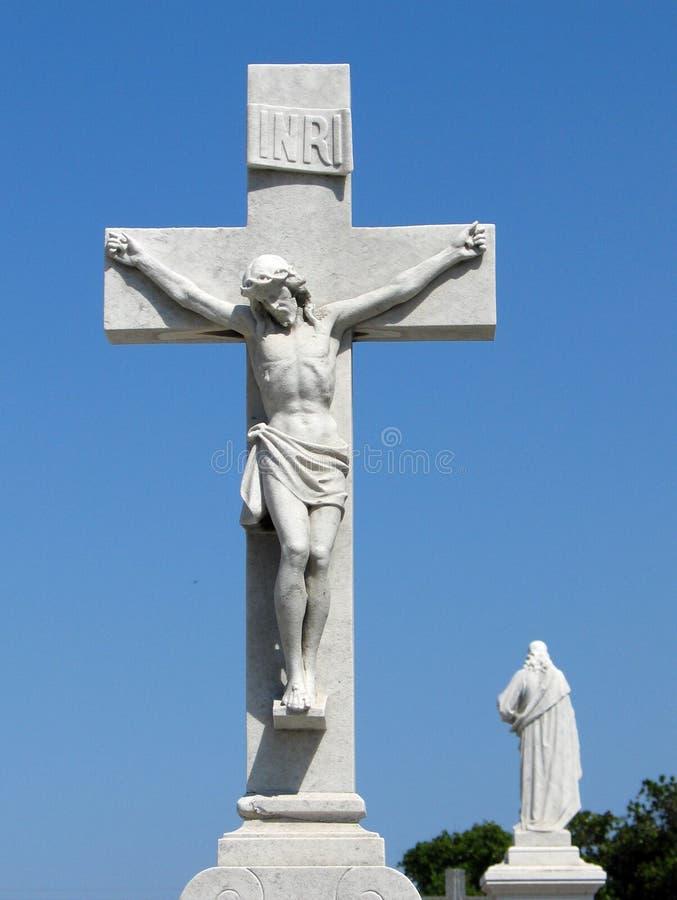 Jesus Christ em uma cruz fotografia de stock royalty free