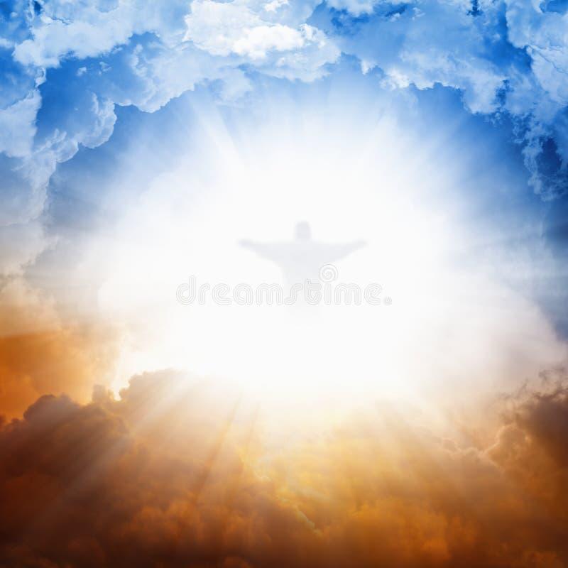 Jesus Cristo no céu foto de stock royalty free