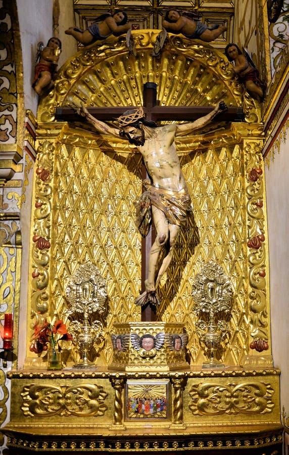 Jesus Cristo no crucifix fotografia de stock