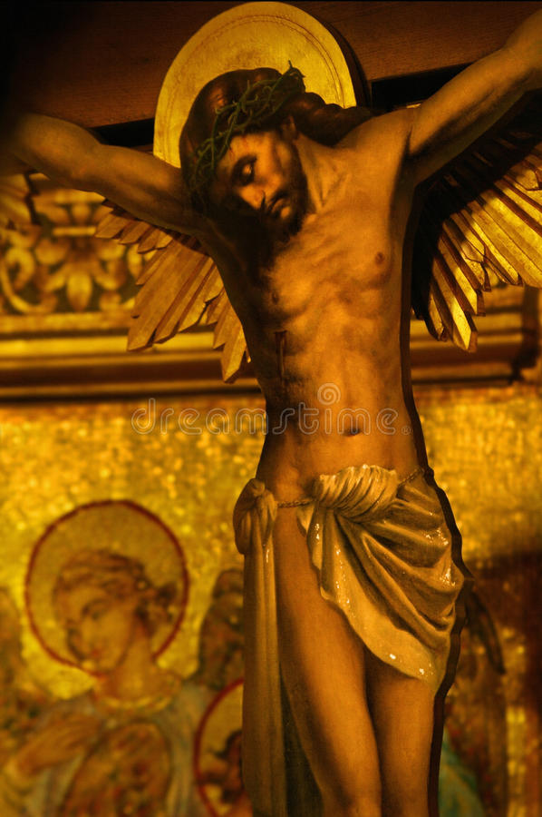 Jesus on cross royalty free stock photos