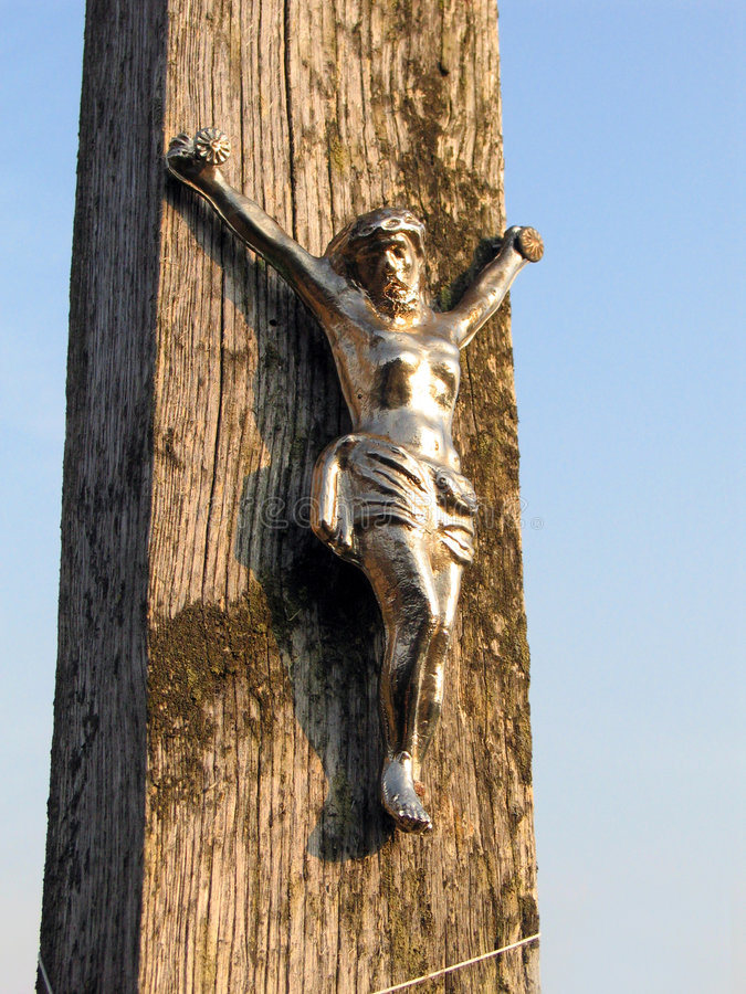 Jesus on cross royalty free stock photography