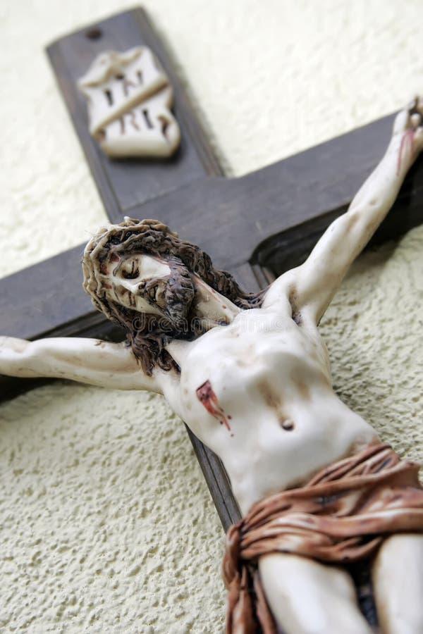Jesus on cross royalty free stock photos