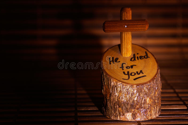 Jesus Cross Easter. Christian concept about Jesus Christ and his sacrifice for mankind stock photography