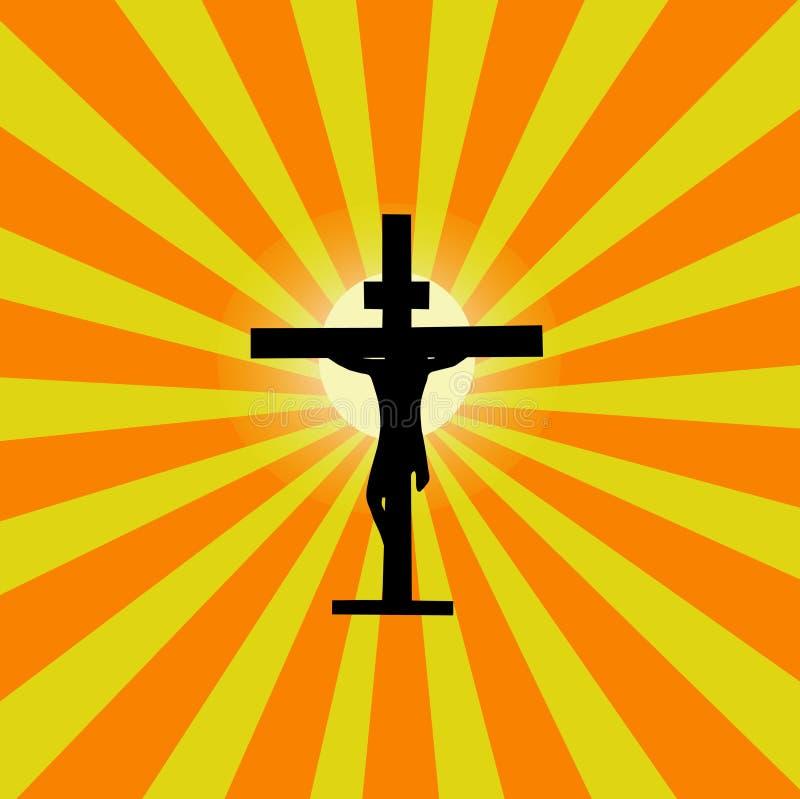 Download Jesus Cross Sunburst stock vector. Image of christian - 13474582