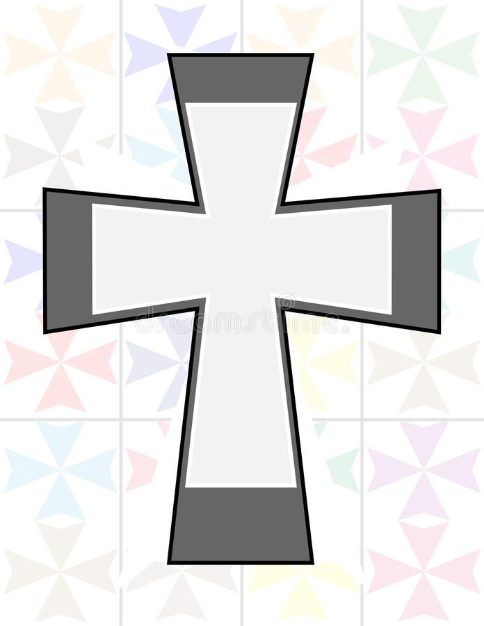 Download Jesus Cross In Two Tone Color On The Transparency Cristal Wall Stock Illustration - Illustration: 28421184