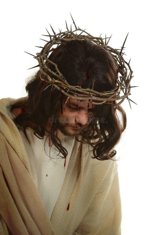 Jesus With Crown dos espinhos foto de stock