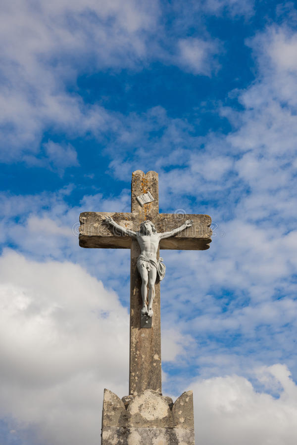 Jesus crucified royalty free stock photo
