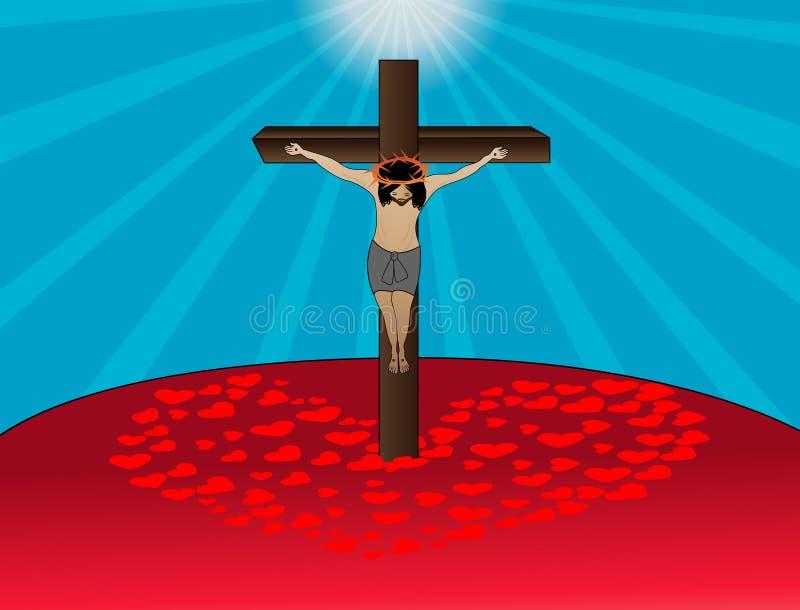 Jesus Crucifixion ilustração do vetor