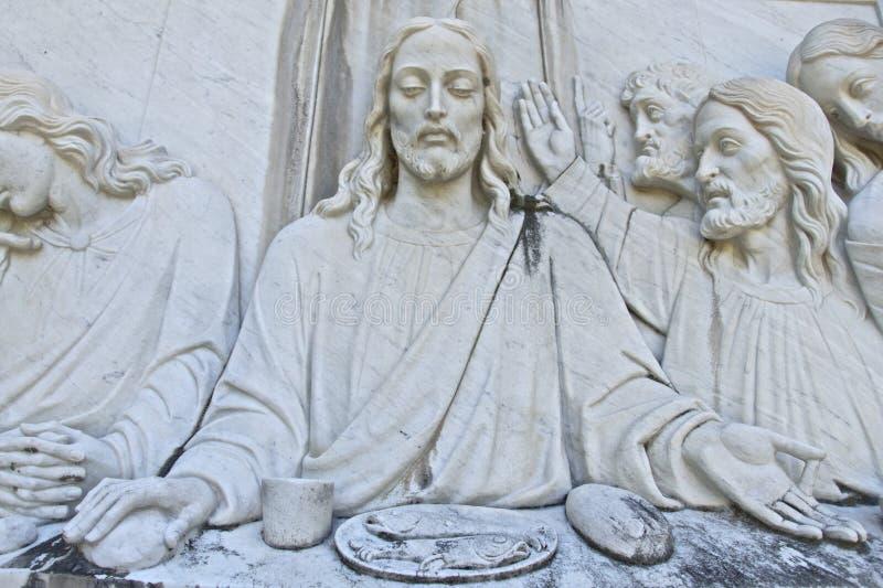 Jesus das letzte Abendessen lizenzfreie stockfotografie