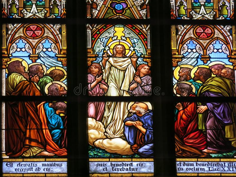 Jesus die discipelen zegenen royalty-vrije illustratie