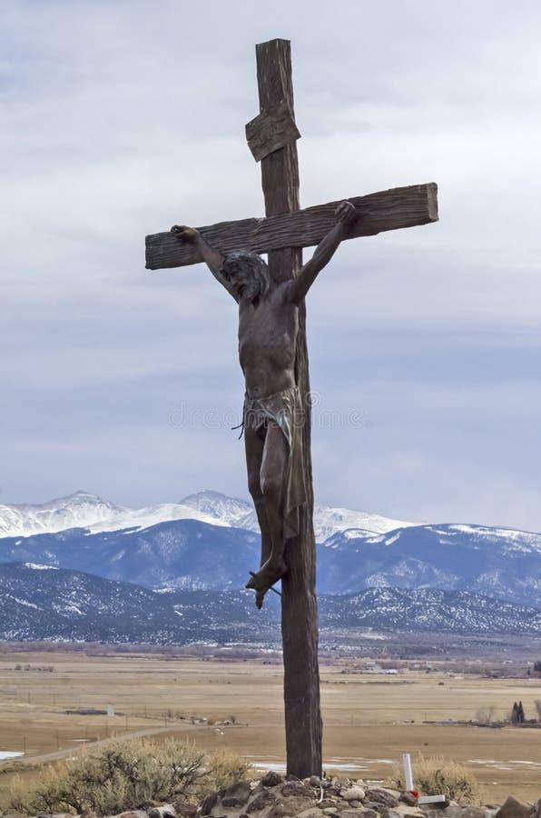 Jesus dog för oss royaltyfria foton