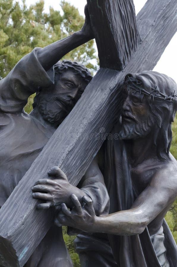Jesus dog för oss arkivbild