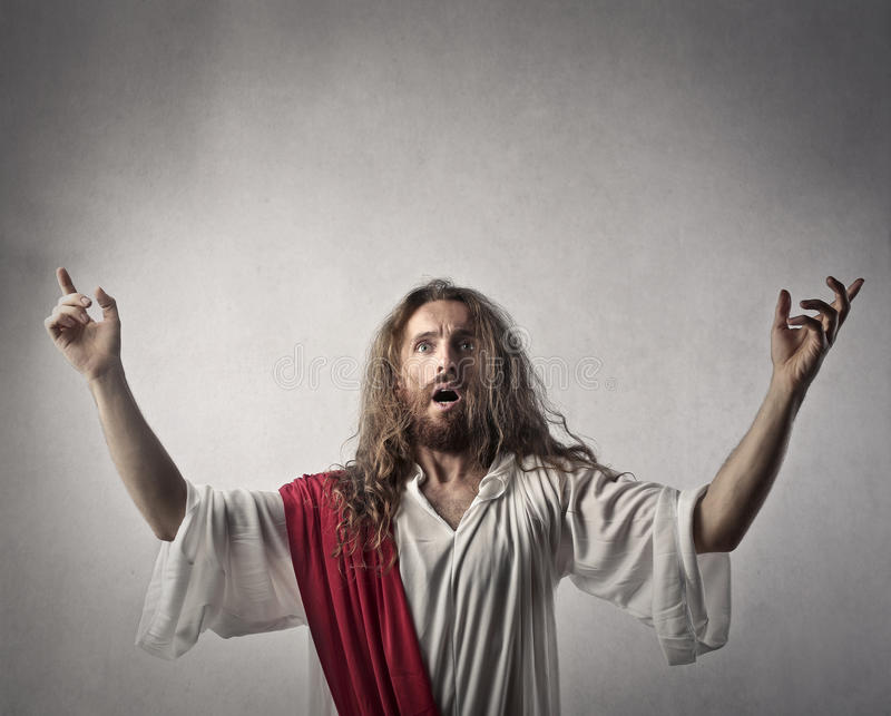 Jesus doing a sermon royalty free stock images