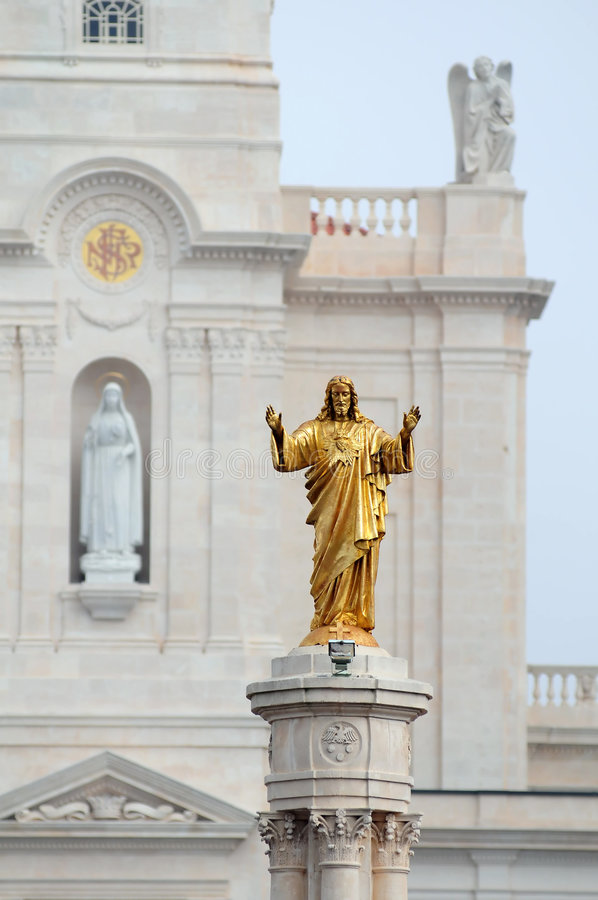 Jesus dourado fotografia de stock royalty free