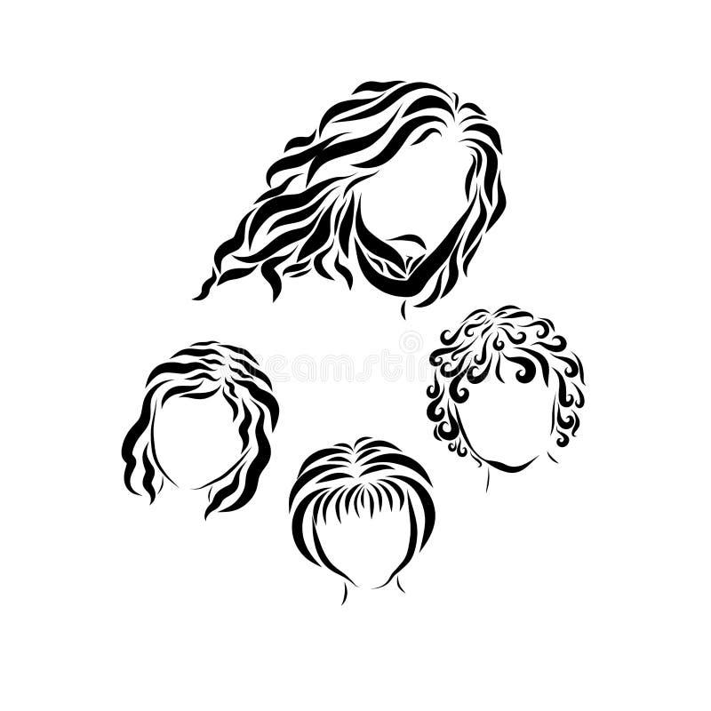 Jesus e as crianças pequenas ilustração royalty free