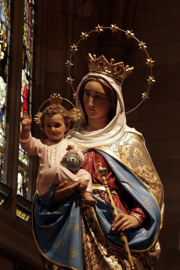 Jesus e Virgin Mary immagine stock