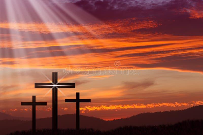 Jesus Easter Cross royalty free stock image