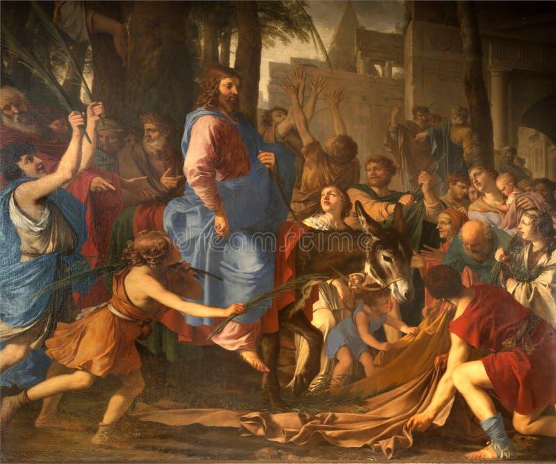 Jesus-Eintrag in Jerusalem - Paris stockfotos