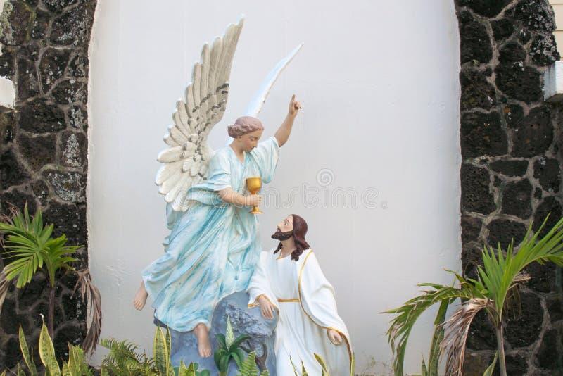Jesus en Engel stock foto's