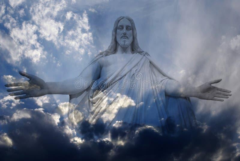 Jesus en Licht stock fotografie